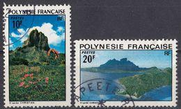 POLYNESIE Française - 1974 - Lotto Di 2 Valori Usati: Yvert 100 E 102. - Französisch-Polynesien