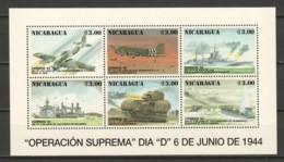 Nicaragua 1999 Kleinbogen Mi 3398-3403 MNH WW2 AIRCRAFT & SHIPS - Airplanes