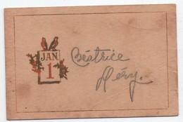 Carte De Voeux/Petite Carte Porte-nom De Repas De Fête/ 1er Janvier/ Canada/ Béatrice Héry/Vers 1900-10  CVE158 - Nieuwjaar