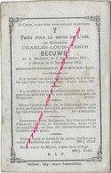 En 1882-Bailleul (59) Charles BECUWE Né En 1815 - Décès