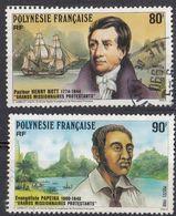 POLYNESIE Française - 1988 - Lotto Di 2 Valori Usati: Yvert 318 E 319. - Polinesia Francese