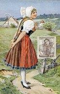 45908 Czechoslovakia, Maximum 1958, Costume, Trachten, 45h Ceskoslovenske Narodni Kroje - Tschechoslowakei/CSSR