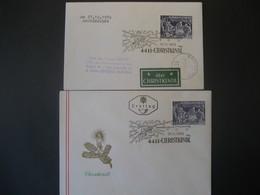 Österreich- 24.12.1970,  27.11.1970 FDC Christkindl Mit Weihnachtsmarken - 1945-.... 2ème République