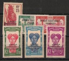 Gabon - 1928-31 - N°Yv. 116 à 120 - Série Complète - Neuf Luxe ** / MNH / Postfrisch - Gabon (1886-1936)