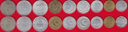 Azerbaijan Set Of 9 Coins: 5 - 50 Qəpik (qapik) 1992-1993 XF-UNC - Azerbaiyán