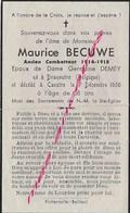 En 1959 Caestre-Dranoutre (59) Et B Maurice BECUWE ép Germaine DEMEY 58 Ans - Décès