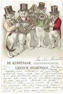 De KEMPENAAR - Liqueur Hygiénique - Gezondhheidslikeur - Anvers - Chats - Katten - Reklame - Publicité - Publicité