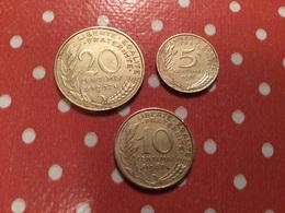 Lot De 3 Pièces - Monnaies & Billets