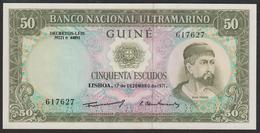 Portuguese Guinea 50 Escudos 1971 P44a Sign: Administrator Luis Esteves Fernandes UNC - Guinee-Bissau