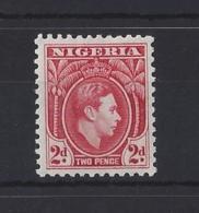 NIGERIA.....KING GEORGE VI.(1936-52).....2d.....SG52ab......PERF 11.5.........MH.. - Nigeria (...-1960)
