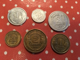 Lot De  6. Pièces Voir Le Scan - Monnaies & Billets