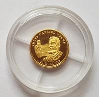 PIECE LIBERIA - OR - FDC SOUS CAPSULE - 25 DOLLARS - 2004 - JULES VERNE - ARMOIRIE - 0.73 Gr - Liberia