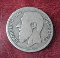 Belgique, Leopold II, 2 Francs, 2 Frank, 1867, B+, Argent     N°  127 D - 1831-1865: Léopold I