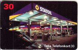 SWEDEN(chip) - Statoil, 12/96, Used - Advertising