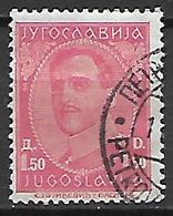 YOUGOSLAVIE   -    1931.   Y&T N° 214 Oblitéré. - 1931-1941 Royaume De Yougoslavie