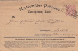 AD Nord Deutscher Postbezirk Korrespondenzkarte 1871 - North German Conf.