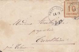 AD Nord Deutscher Postbezirk Brief 1871 Occupationsgebiet - North German Conf.