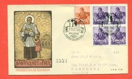 SANTI - SPAGNA  - 1960 - SAN VINCENZO E PAOLO - SAN VICENTE E PAUL - FDC