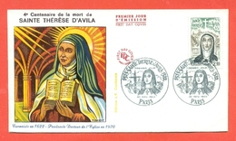 SANTI - SPAGNA  - 1970 - SANTA TERESA D'AVILA - SAINTE THERESE D'AVILA - FDC