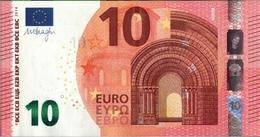 ! 10 Euro Currency, Money, Geldschein, Banknote FA2235340476 , F002D4, Mario Draghi, EZB, ECB, Europäische Zentralbank - EURO