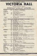 Sheffield Victoria Hall Methodist Mission Boy Scouts Programme 1950s Ephemera - Old Paper