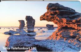 SWEDEN(chip) - Landscape, Red CN : C55150175, 03/95, Used - Sweden