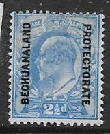 Bechuanaland, EVIIR, 1904, 2 1/2d Ultramarine, MH * - Bechuanaland (...-1966)