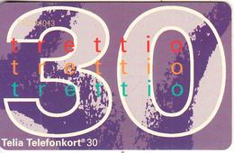 SWEDEN(chip) - New Definitive Card(30 Units), CN : C42144043, 02/94, Used - Sweden