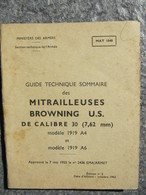 Guide Technique Mitrailleuses BROWNING US Calibre 30 / 7,62mm 1955 - Autres