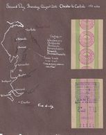 Mersey Tunnel Chester To Carlisle Queensway Toll 1953 Travel Ticket - Tourism Brochures