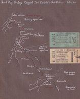 Erskine Ferry 1953 Travel Toll 2x Ticket Map Ephemera - Tourism Brochures