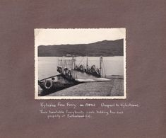 John O Groats Hotel To Kylescu Ferry 1953 Map Photo Collection - Tourism Brochures