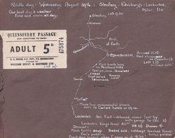 Queensferry Passage Lockerbie Edinburgh Map Travel Ticket 1953 & Photo S - Tourism Brochures