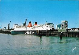 CPA-1980-CALAIS-FERRY-ST ANSELM-CIE SEALINK-au Débarquement-TBE - Ferries