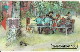 SWEDEN - Breakfast, Chip SC7, Red CN : C32141076, 01/93, Used - Sweden