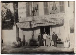 Roquebrune Cap Martin Menton 1910 Gde Photo - épicerie Parisienne Du - Lieux