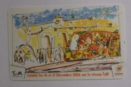 Ticket TAM Montpellier , Inauguration De La Ligne 2 Du Tramway En 2006 - Tram