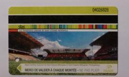 Ticket STAS  Saint Etienne (42/Loire) - 1H30 Bus Tramway - STADE GEOFFROY GUICHARD / Football - ASSE - Bus