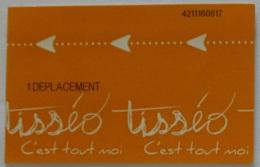 Ticket TISSEO Toulouse (31/Haute Garonne) - Bus / Métro / Tramway - 1 Déplacement - Ticket Utilisé - Metro