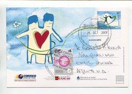 ARGENTINA - DONACION DE ORGANOS, UN REGALO A LA VIDA. ENTERO ENTIER CIRCULE 2006 FDC - LILHU - Medicina