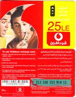 EGYPT - 2 Boys, Vodafone Recharge Card 25L.E., Used - Egypt