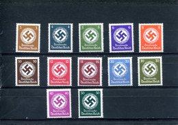 Deutsches Reich Kat. Michel Dienstmarken 166 - 177*/MNH - Dienstpost
