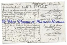 MAROC 1915 - 114 EME TERRITORIAL MATTEUDI TROUPES OCCUPATION TAMPON POSTE DE TAOURIRT - BROCART MARSEILLE CPA MILITAIRE - Guerre 1914-18