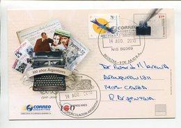 ARGENTINA - 100 AÑOS ARGENTORES, ASOCIACION AUTORES ARGENTINOS. ENTERO ENTIER CIRCULE 2010 FDC - LILHU - Escritores