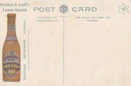 Postcard Swallow & Ariell's Lemon Squash Australia Advertising Postcard - Advertising