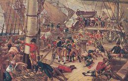 Pearks Butter Battle Of Trafalgar Old Military Advertising Postcard - Advertising