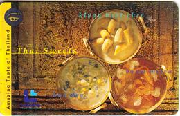 THAILAND(chip) - Thai Sweets, Lenso Telecard 300 Baht, Used - Food
