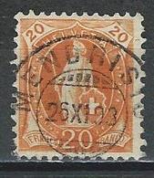 SBK 66C Mi 58XC  O Mendrisio - 1882-1906 Stemmi, Helvetia Verticalmente & UPU