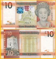 Jersey 10 Pounds P-34 2019 New Signature UNC Banknote - Jersey