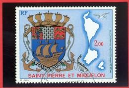 Armoiries St-Pierre Et Miquelon. Carte Postale Neuve / Mint Post Card; Timbre Scott Stamp # C 55 (0262) - Saint-Pierre-et-Miquelon
